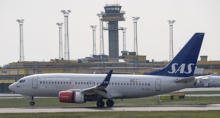 Ett av SAS flygplan