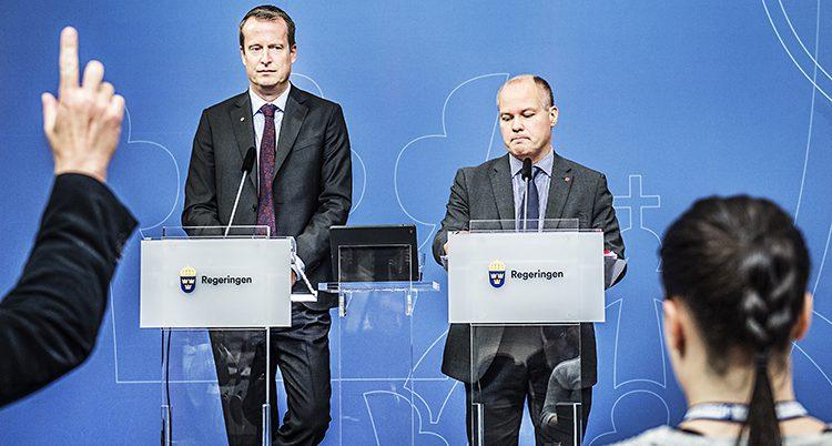 Anders Ygeman och Morgan Johansson i regeringen.