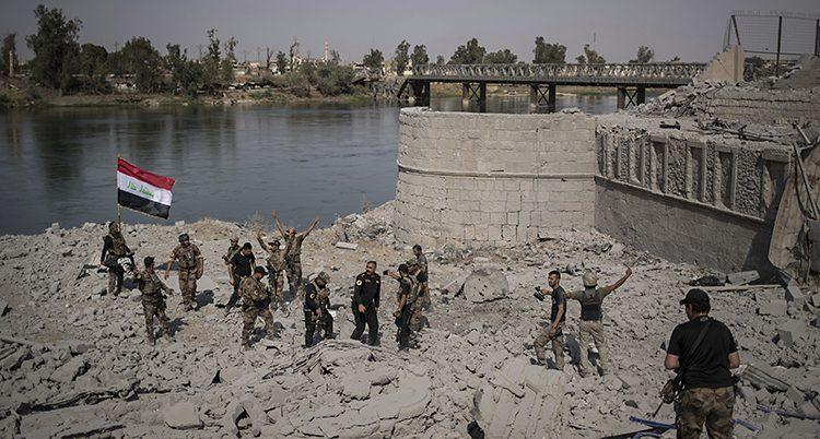 Irakiska soldater i Mosul