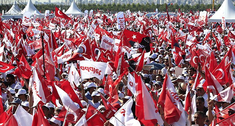 demonstranter i Turkiet