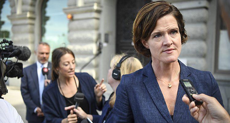 Moderaternas ledare Anna Kinberg Batra