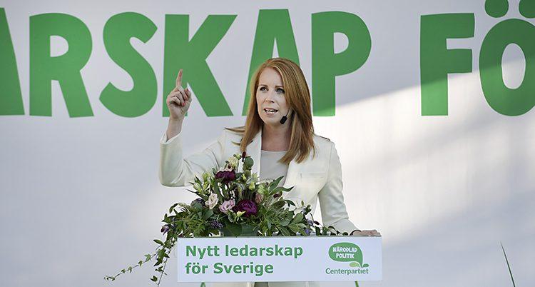 Annie Lööf är ledare för Centerpartiet