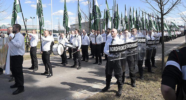 Nazister demonstrerade i Falun i maj