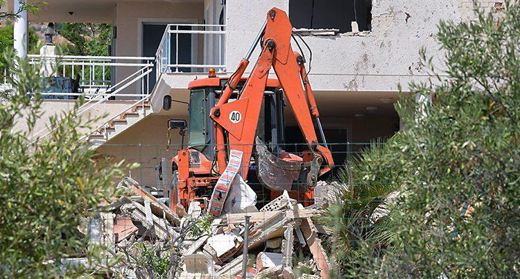 Huset där poliserna tror att terroristerna byggde bomber