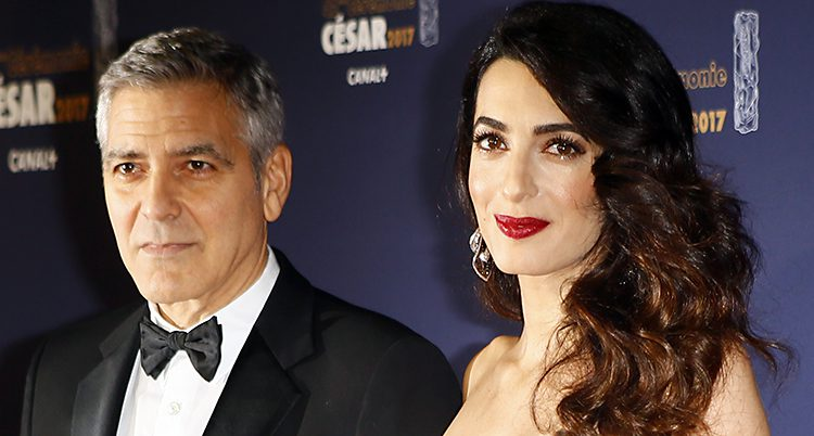 George Clooney och hans fru Amal Clooney