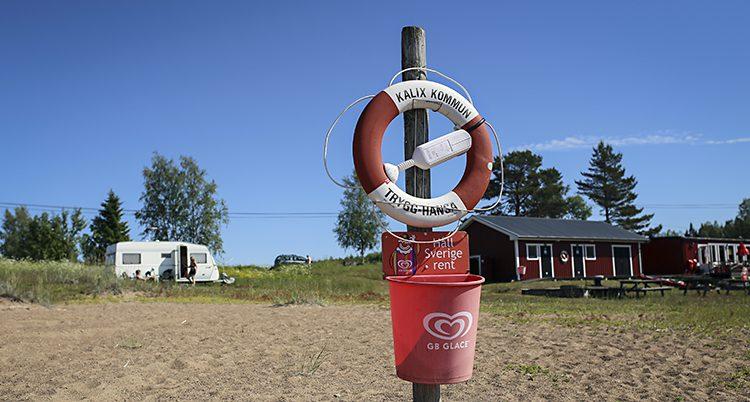 En badplats i norra Sverige