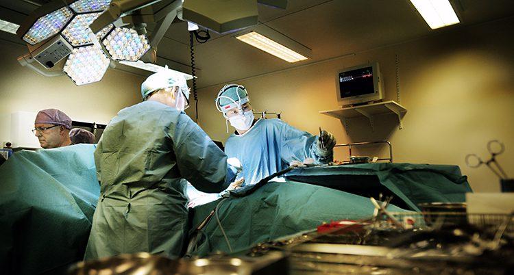 Läkare på ett sjukhus i Stockholm