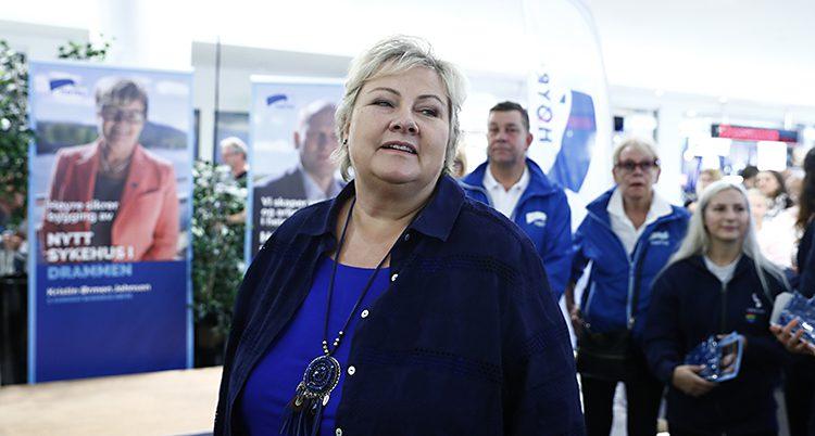 Erna Solberg är Norges statsministe