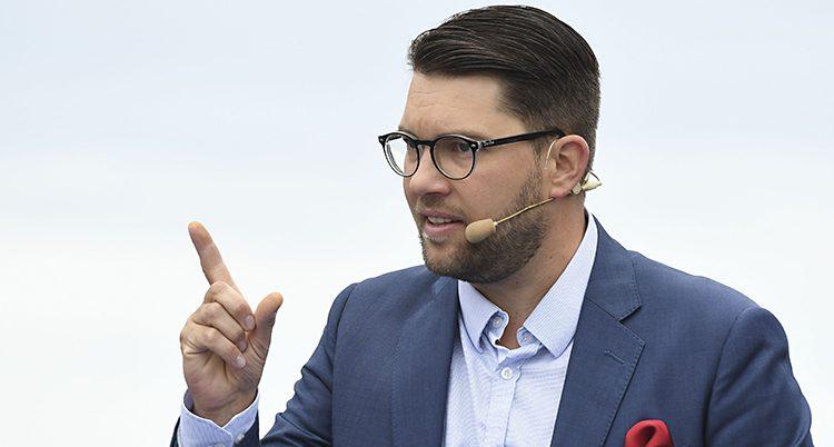 Sverigedemokraternas ledare Jimmie Åkesson