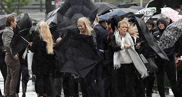 Regn och blåst i Malmö
