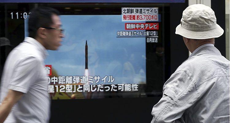 Nordkorea har skjutit en stridsraket