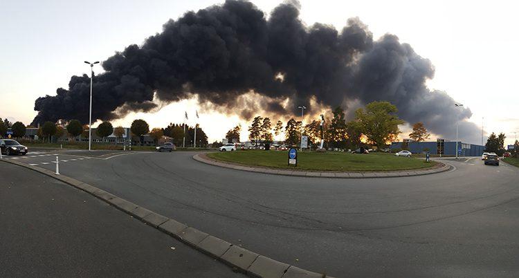 Det brinner i Nässjö