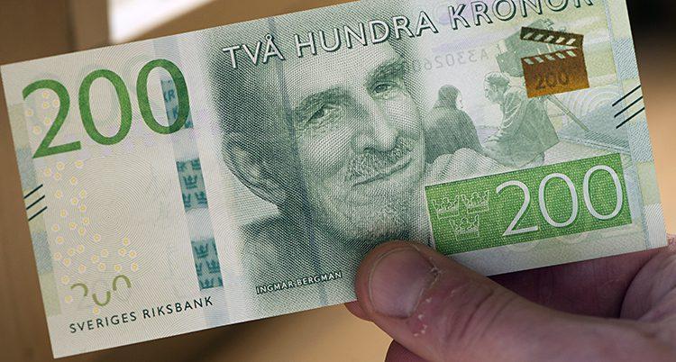 En 200-kronorssedel.