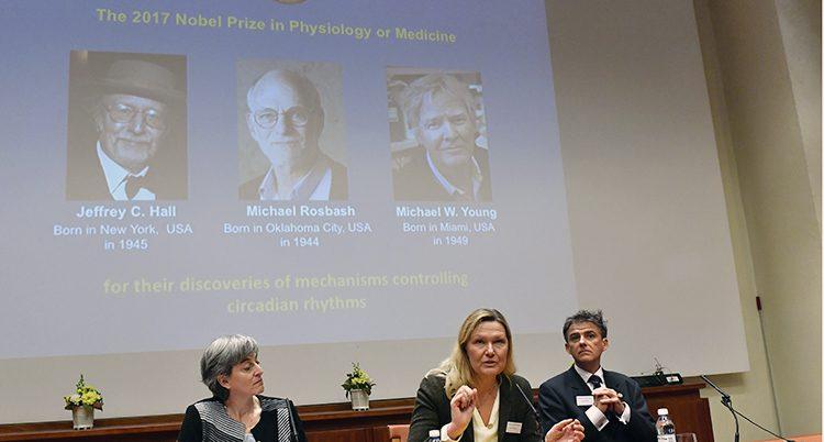 Tre forskare från USA får Nobelpriset i medicin.