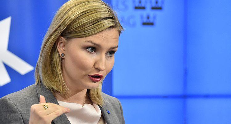 Kristdemokraternas ledare Ebba Busch Tho
