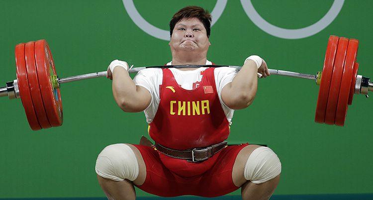 En tyngdlyftare från Kina