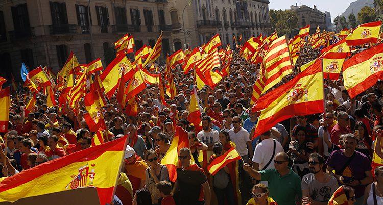 Många demonstrerade i Barcelon