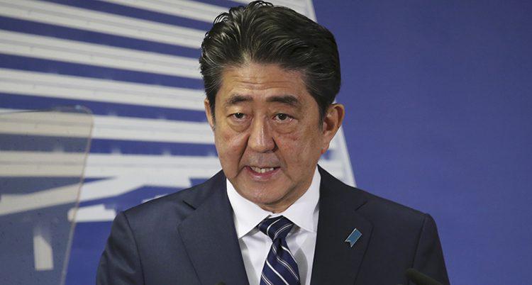 Japans ledare Shinzo Abe