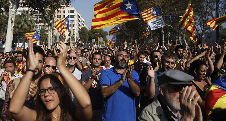Många i Katalonien vill ha ett eget land