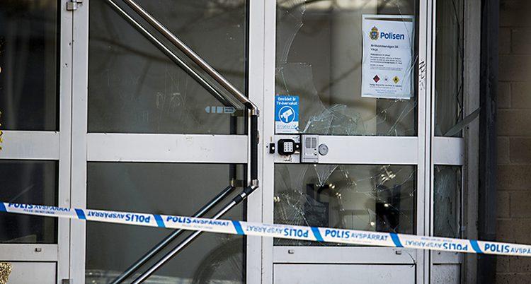 En polisstation i Växjö attackerades i helgen