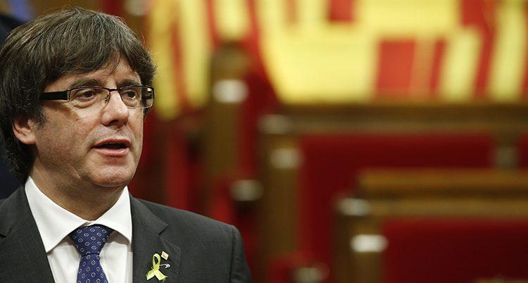 Kataloniens förra ledare Carles Puigdemont