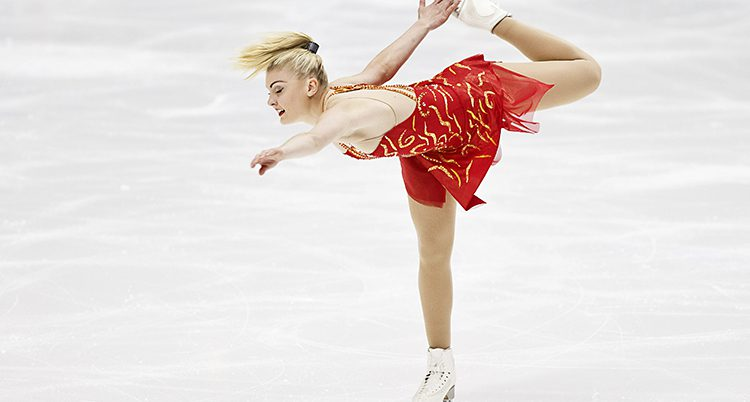Joshi Helgesson på isen.