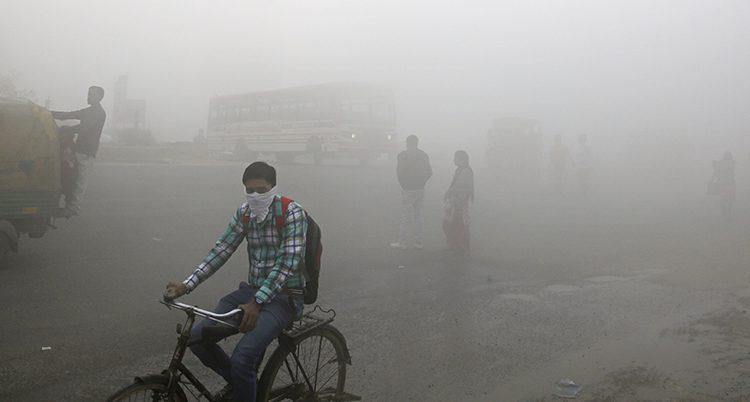 Luften i New Delhi är dålig