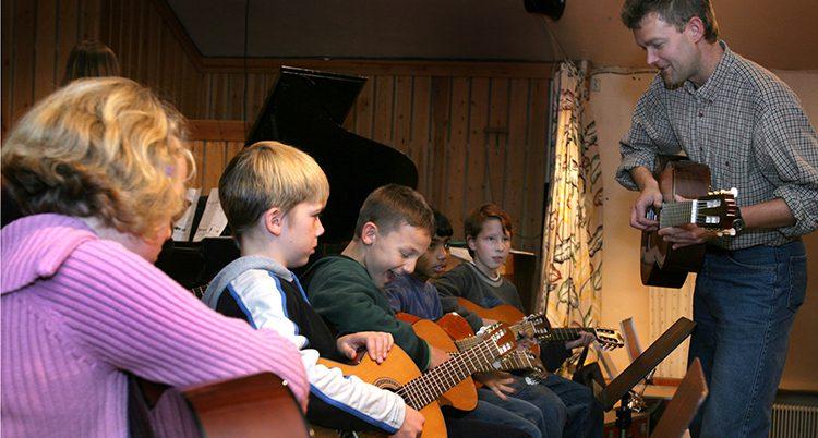 Barn i Kulturskolan i Ockelbo