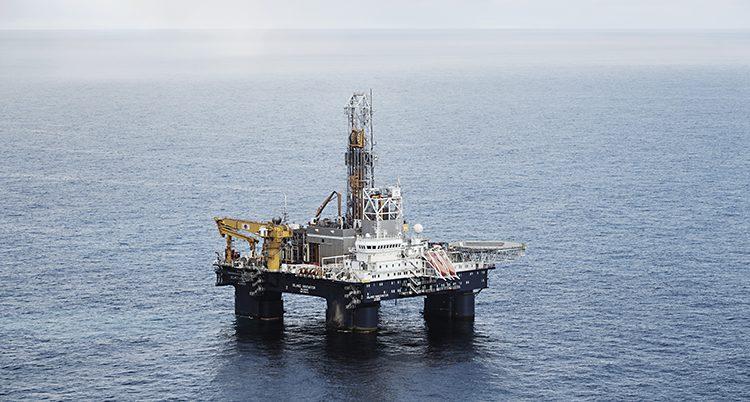 En oljeplattform i Barents hav. Foto: Pi Frisk /TT