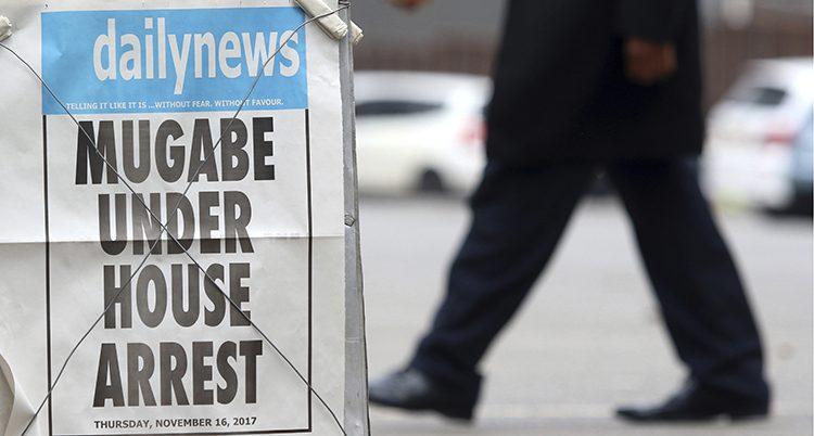 Mugabe är gripen står det på tidningens löpsedel