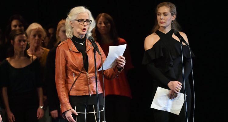 Skådespelarna protesterar mot sexuella trakasserier