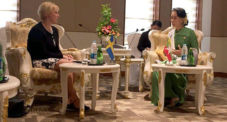 Margot Wallström och Aung San Suu Ky