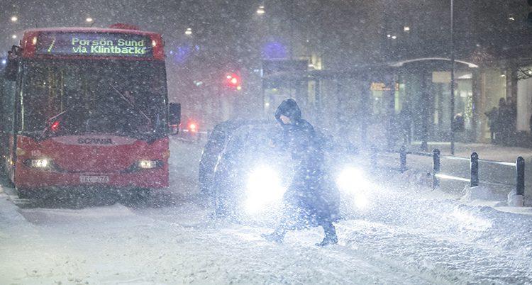 Snöoväder i Luleå