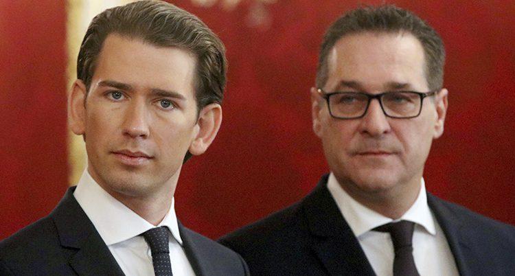 Sebastian Kurz och Heinz-Christian Strache.