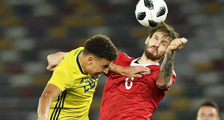 Jordan Larsson i matchen mot Danmark