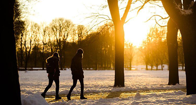 Människor på promenad