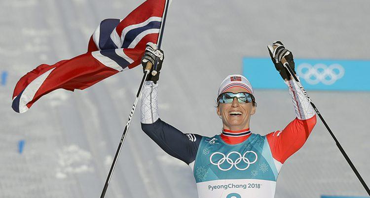 Marit Björgen vann tremilen