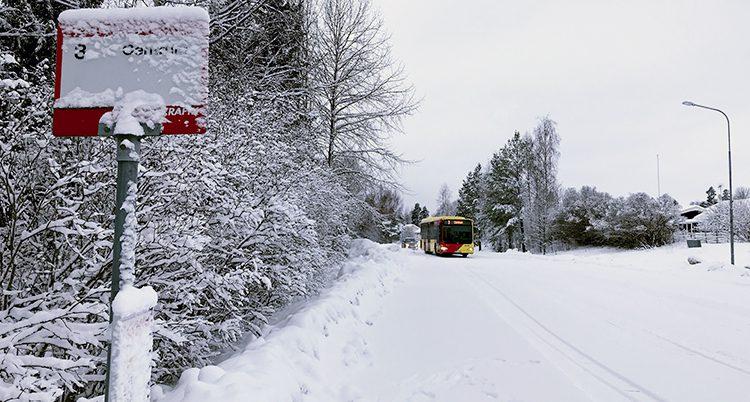 En buss nära Bollnä