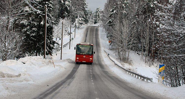 En buss på väg