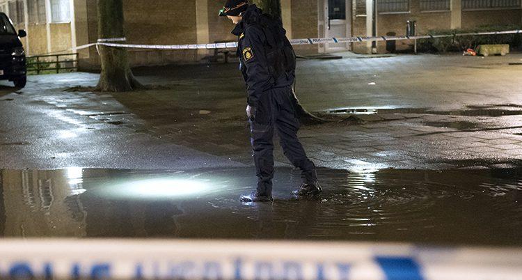 En polis i Malmö.