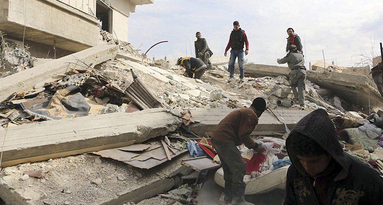Husen har bombats