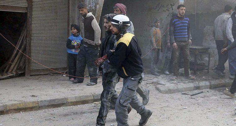 En skadad man i Syrien