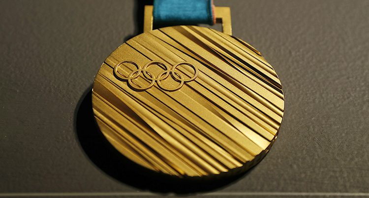 En olympisk guldmedalj