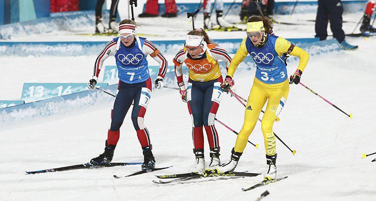 Hanna Öberg i gul dräkt