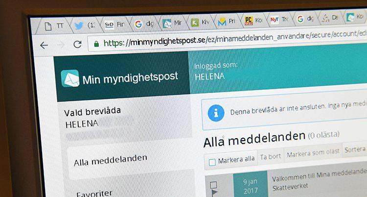 Allt fler skaffar digital brevlåda