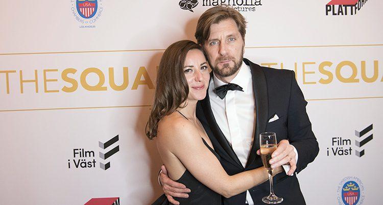 Ruben Östlund och hans flickvän Sina Görtz