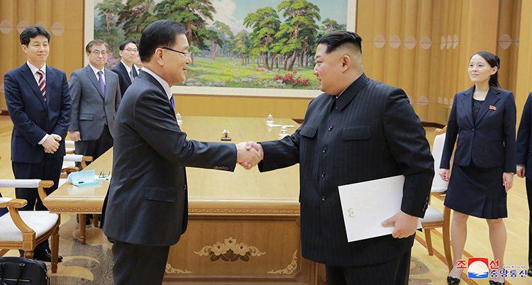 Sydkoreas och Nordkoreas ledare
