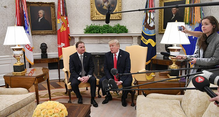 Löfven träffade Trump