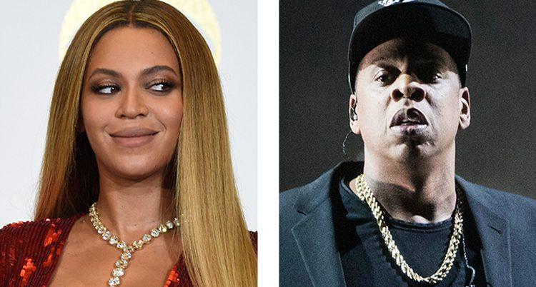 Två foton, till vänster Beyoncé och till höger Jay-Z.