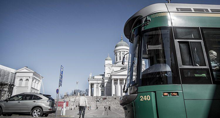 Staden Helsingfors i Finland.